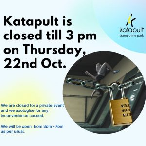Closed tll 3pm on 22 Oct 2020